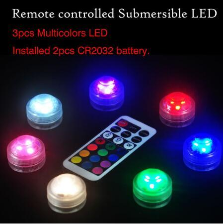 Kitosun 10pcs Underwater Submersible LED Lights Battery Operated Waterproof Party Lights With Battery For Halloween Christmas
