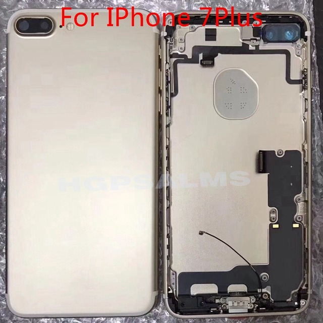 NEW Full Housing Back Middle Frame Chassis For IPhone 7 7G 7Plus 7p Assembly Back Battery Cover Rear Door Case With Flex Cable