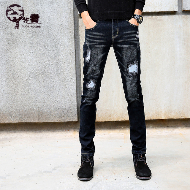 Men's Jeans Summer 2018 Brand Stretch Casual Slim Casual Straight Leg Denim Jeans Ripped jeans.