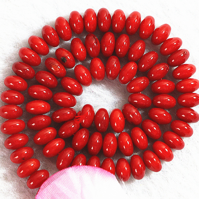 4 type natural red coral stone coin abacus tube bone shape loose beads high grade women diy jewelry findings 15inch B611