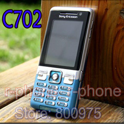 C702 Original Sony Ericsson C702 Mobile Phone GPS 3G 3.15MP Unlocked Cell Phone & One year warranty