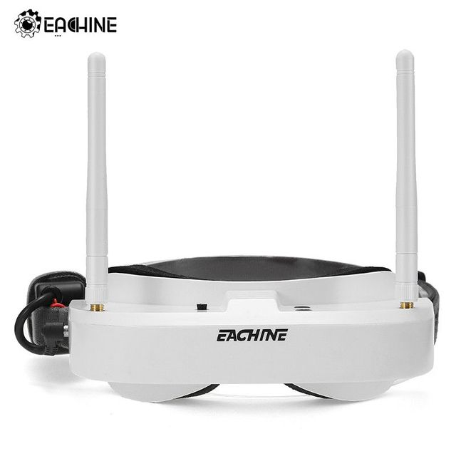 Orginal Eachine EV100 720*540 5.8G 72CH 4:3 FPV Video Goggles With Dual Antennas Fan Build in 7.4V 1000mAh Battery RC Part