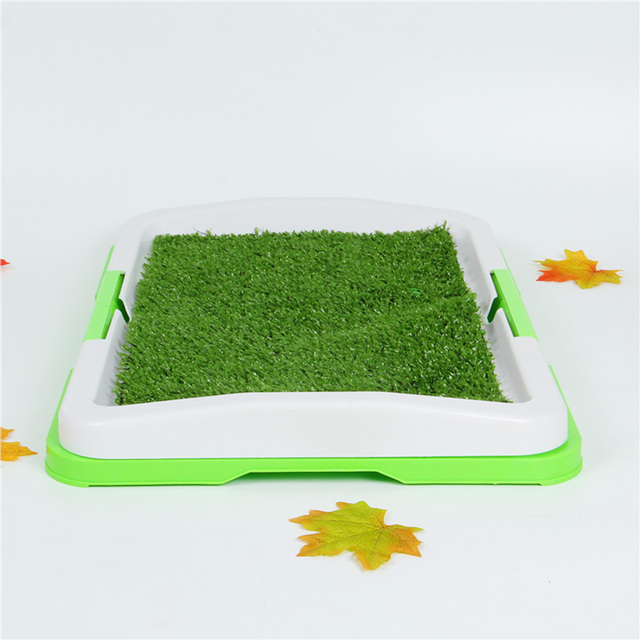 Pet Dog Puppy Toilet Urinary Trainer Grass Mat Potty Pad House Litter Tray