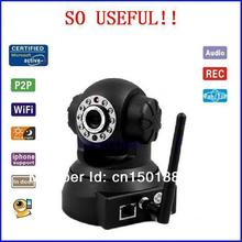 Free shipping Wireless IP camera  Auto-Alarm Security cam wifi cctv camera 10m night vision infrared  Monitor