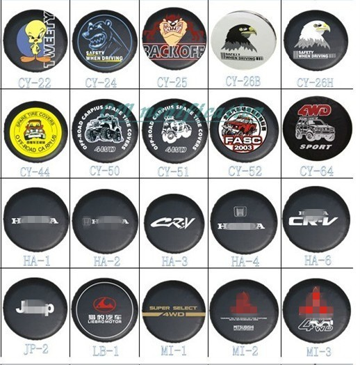 """Factory direct sales. Suitable for Honda series PU spare tire cover custom 14 """"15"""" 16 """"17"""" PVC spare wheel cover free shipping"""