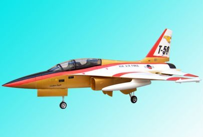 No Battery, RTF 70mm RC Jet T-50 with Electric Retractable Landing Gear and Auto Pilot Cabin