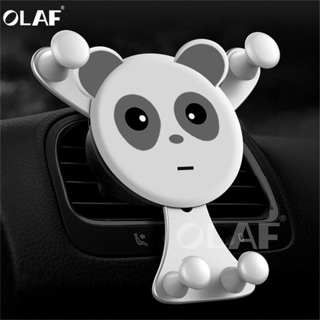 OLAF Gravity Car Phone Holder,Universal Smartphone Grip Air Vent Mount Mobil Phone Holder Stand For iPhone X 7 Oneplus 6 GPS Car
