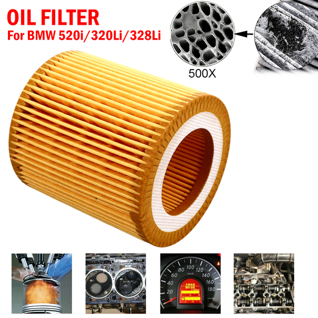 Vehemo 11427640862 Oil Filter Car Oil Filter Replacement Auto Oil Filter Fits Multiple Models for BMW 520i/320Li/328Li