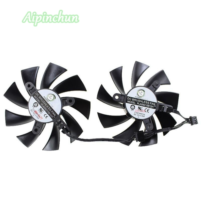 2PCS 86mm PLA09215B12H 12V 0.55A 4Pin Cooler Fan Replacement For EVGA GeForce GTX 760 770 780 Graphics Video Card Cooling Fan