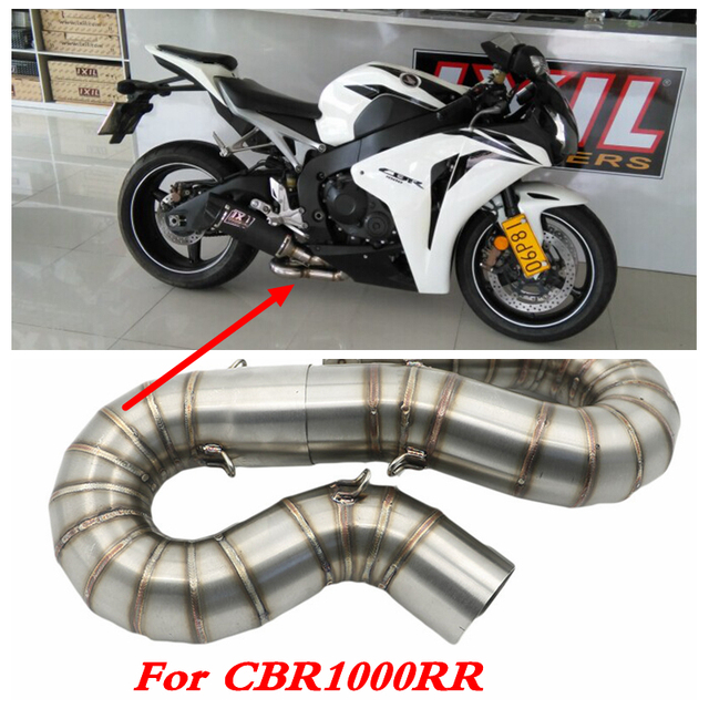 Motorcycle Exhaust Muffler Middle Link Pipe For Honda CBR1000RR CBR 1000RR 2008 2009 2010 2011 2012 to 2016 Slip-on