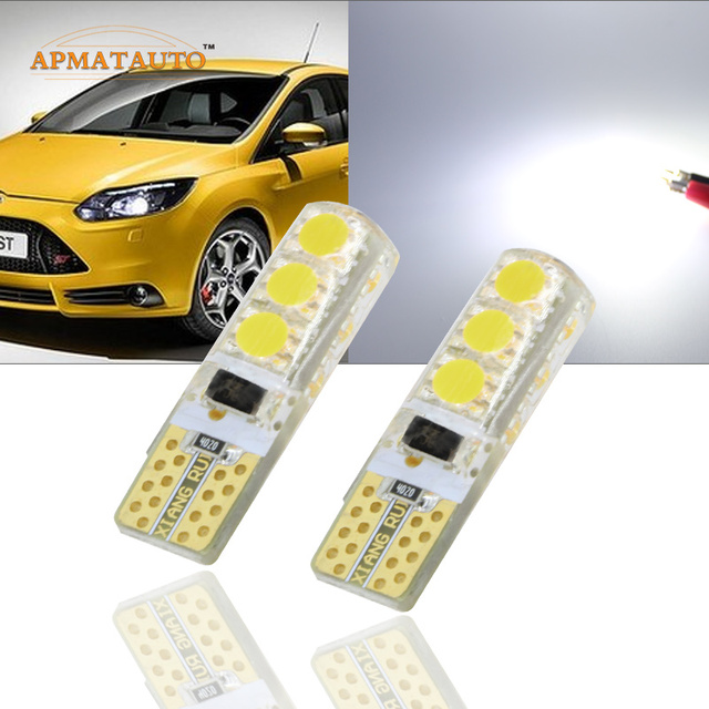 2 x Car Styling T10 W5W T16   194 168  12V LED Clearance Light Marker Lamp Bulb Source Canbus For Focus 2 Focus 3  Fiesta