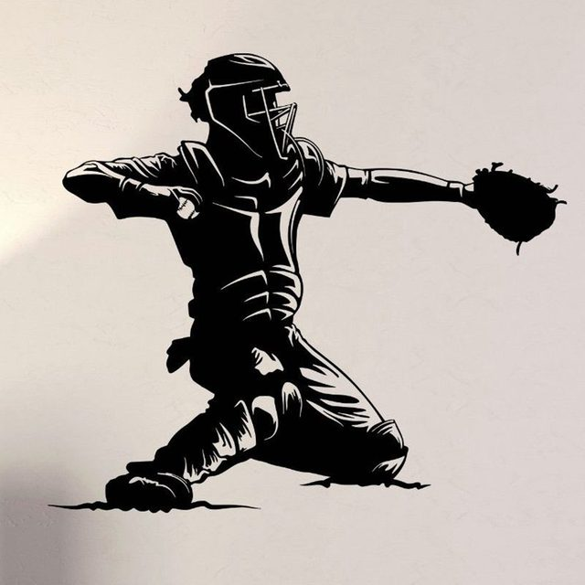 Baseball Sticker Car Decal Sports Posters Home Decoration Vinyl Wall Decals Decor Mural Baseball Wall Decal