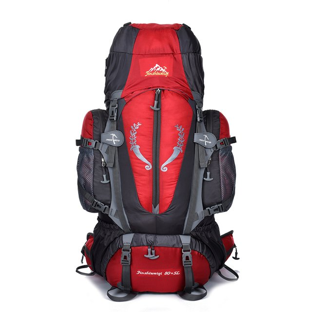 85L Outdoor Backpack Professional Waterproof Rucksack External Frame Climbing Camping Hiking Backpack Sports Mountaineering Bags