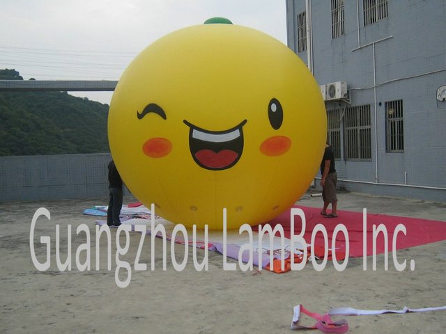 New Design Lovely Nice Inflatable Pear Helium Balloon for Promotion with his Special Cute Face/Free Shipping