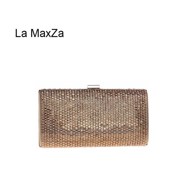 La MaxZa Crystal Day Clutch Party Bag Handmade Beaded Diamonds Party Bag Wholesale Glitter Evening Party Banquet Bag