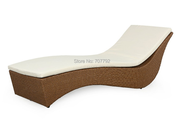 Natural Look Rattan Wicker Outdoor Chaise Lounge Daybed