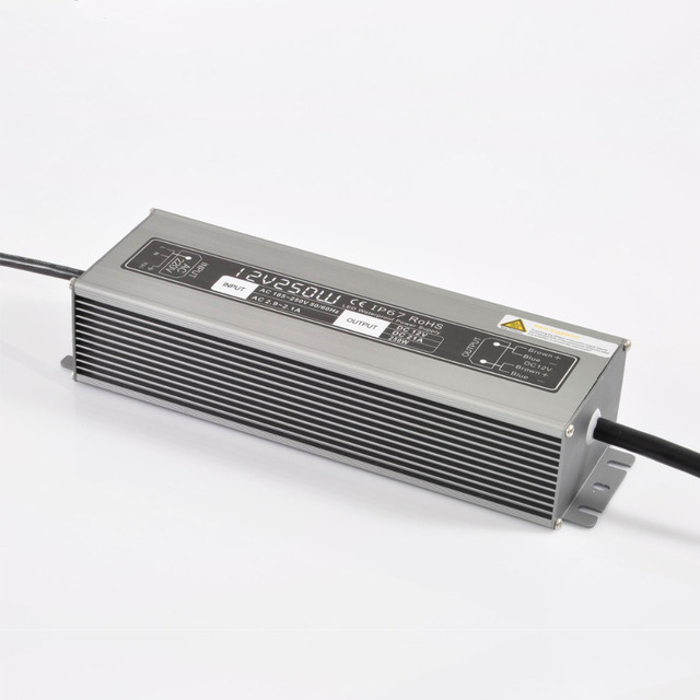 12V/250W waterproof switch mode Power Supply;IP67 rated;AC170-240V/AC90-130V input;DC12V output