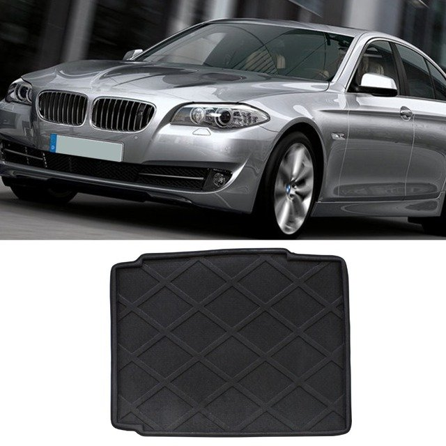 100% Brand New 3D Black Waterproof Boot Liner Tray Cargo Mat For BMW 5 Series 2009-2015 Carpet Rear Truck Tray Genuine