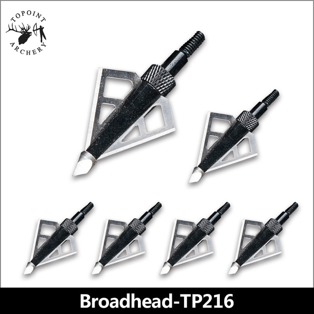 Topoint Archery,6PCS Broadheads,Stainless Steel Hunting Arrowheads Points Broadhead 100 Grain Archery Compound Bow Arrow