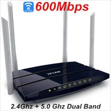 TP Link 600Mbps wi fi router ,Dual 2.4Ghz+ 5Ghz wifi router,4 antenna wi-fi router, ADSL roteador wireless wifi,wifi repeater