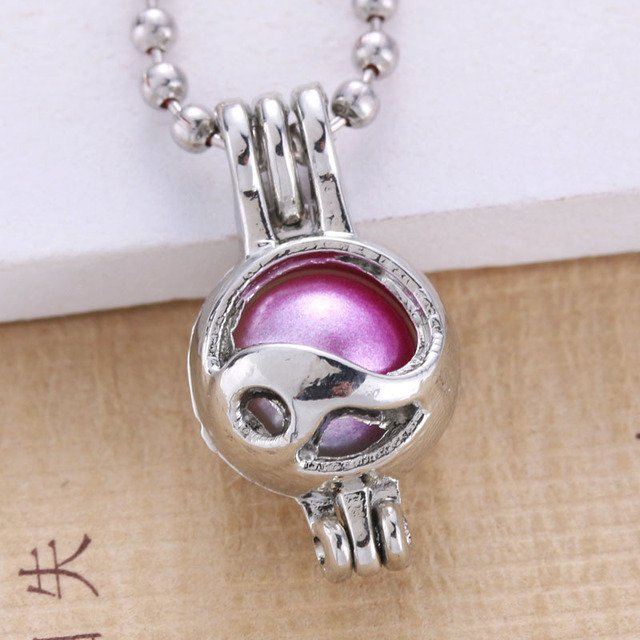 6pcs Silver Palted Pearl Cage Jewelry Making Bead Cage Pendant Essential Oil Diffuser Locket For Oyster Pearl Fun Gift