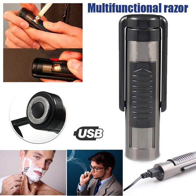 2019 Drop Shpping USB Rechargeable Cigarette Lighter Electronic Lighter Eco-Friendly Mini No Gas Shaver for Smoking Tools