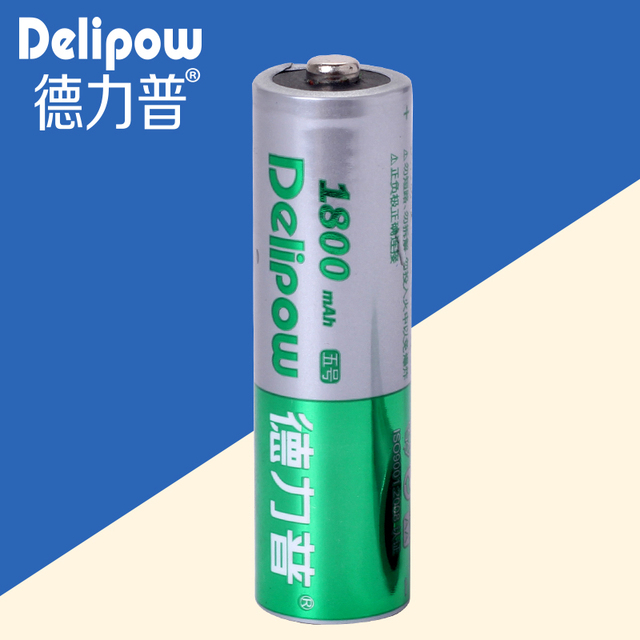Delipow battery No. 5 No. 5 large capacity battery charging battery No. 5 AA1800 Ma 6.5 yuan / day Rechargeable Li-ion Cell