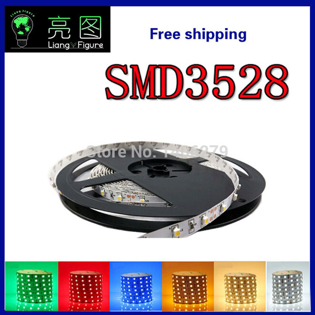 LED SMD3528 non-waterproof SMD 12V flexible light 60 led/m,6 color LED strip white/warm white/blue/green/red/yellow150103