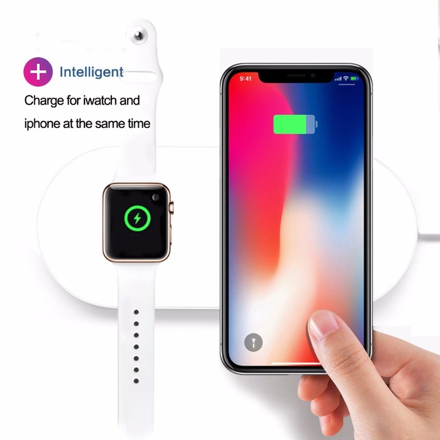 7.5W Wireless Charger Pad 2-in-1 For iWatch 2 3 Series Fast Charging For iPhone X 8 8 Plus Mobile Phone Chargers