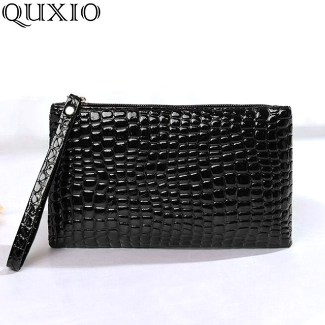 New trend Europe and America women's bag ladies clutch bag fashion crocodile pattern small square wallet phone bag purse CZ27