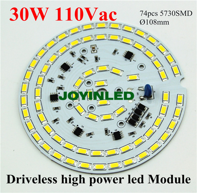 Free shipping 2015 newly 2700lm 110Vac 120Vac led ceiling lamp  driverless Dimmable high bay light 30W PCB module