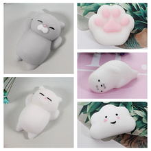 Cute Mochi antistress ball Mini Squeeze Squishy cat Cute Kawaii doll Squeeze Stretchy Animal Healing stress relief toys funny