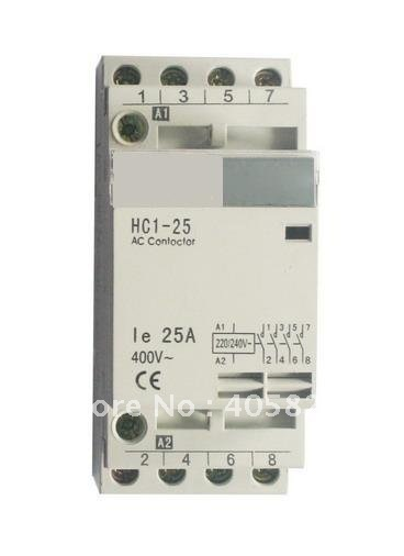 4P 20Amps/25Amps Modulus of household AC contactor,home contactor, modular contactor, household contactor