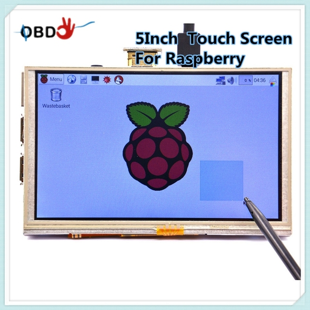 Newest 5 Inch 800 x 480 HDMI TFT LCD Touch Screen For Raspberry PI 3 Model B/2 Model B / B+ / A+ / B Works Perfect