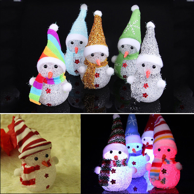 Toys Glowing Plastic Beautiful Luminous toys Decoration Festival LED Snowman Kids toys light lichtstaven Gift for Son Daughter