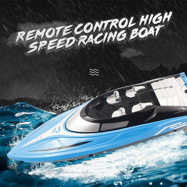 2018 Drop Shipping Remote Control Boat Efficient Outdoors Speedboat Rc Durable River Racing Boat Swimming Pool