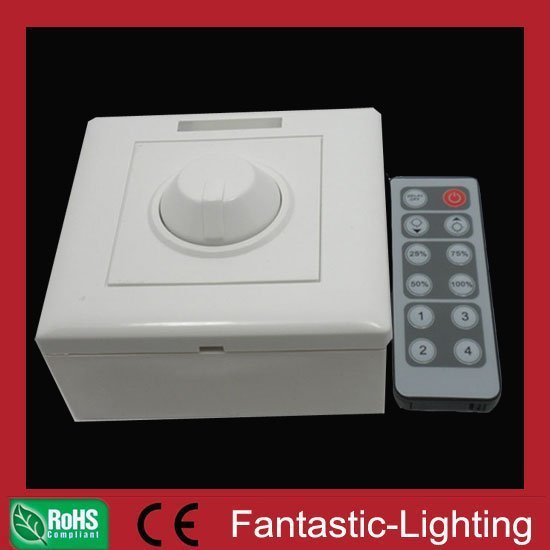 wall type LED remote dimmer switch controller 12-key IR remote constant voltage dimmer 12VDC 24VDC