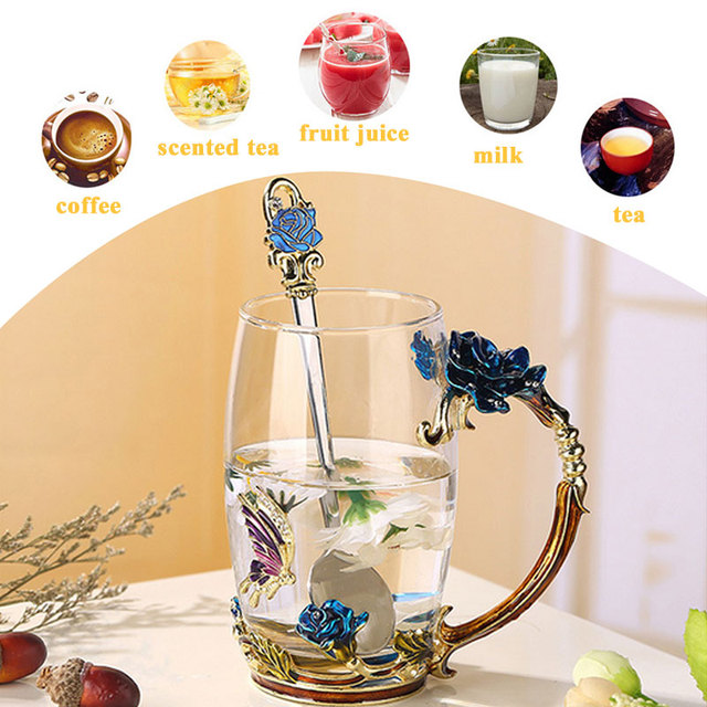 High Borosilicate Glass Water Cup Crystal Cup Insulated Thermal Coffee Pots Creative Drinks Beer Dining Glass Cup Clear Colour