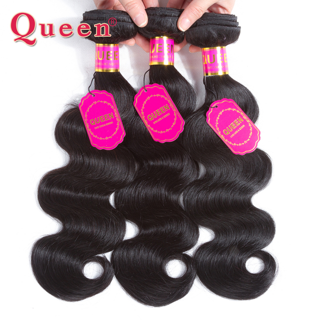 Queen Hair Products Brazilian Hair Bundles Body Wave Hair 3 Bundles Natural Black Remy Double Weft Human Weave Hair Extensions