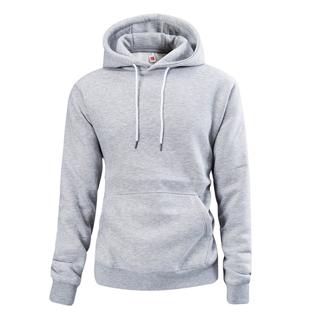 Men's Casual Fashion Hooded Sweatshirt Men's Cotton Hooded Pullover Sweatshirt Solid Color Comfortable Pullover