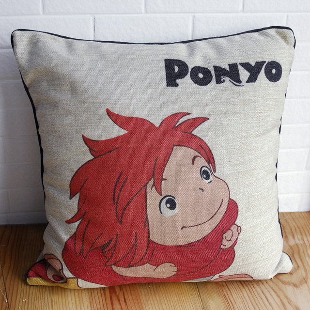 2013JUN #0015 office car sofa bed cotton Ponyo on the Cliff by the Sea  home decoration Hayao Miyazaki  pillow cushion