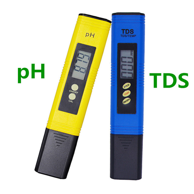by DHL FEDEX TDS  0-9990ppm Titanium probe Water Quality Purity +  PH meter Automatic calibration 0.01 Hydroponic monitor 30%off