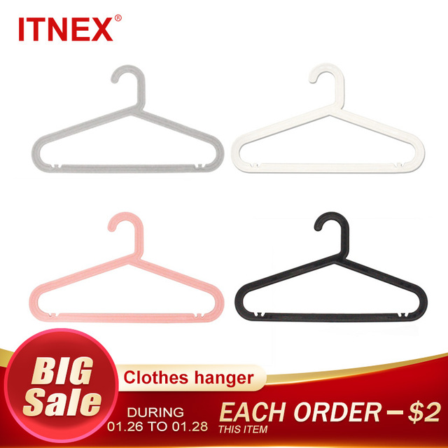 ITNEX 5pcs/Lot Adult Clothes Hangers Outdoor Drying Rack For Jeans Pants Coat Home Storage Holder Dress Plastic Clothing Hanger