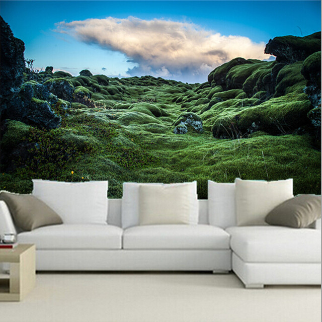 The latest 3D murals, papel de parede Ireland Moss Nature wallpapers, living room TV wall bedroom wall of wall paper