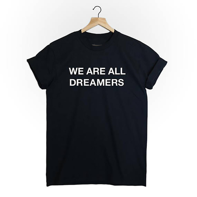 Women T Shirt Summer Tops Basic Tees  Cotton WE ARE All DREAMERS T-Shirt FASHION Womens Clothing O NECK XS-XXXL Plus Size