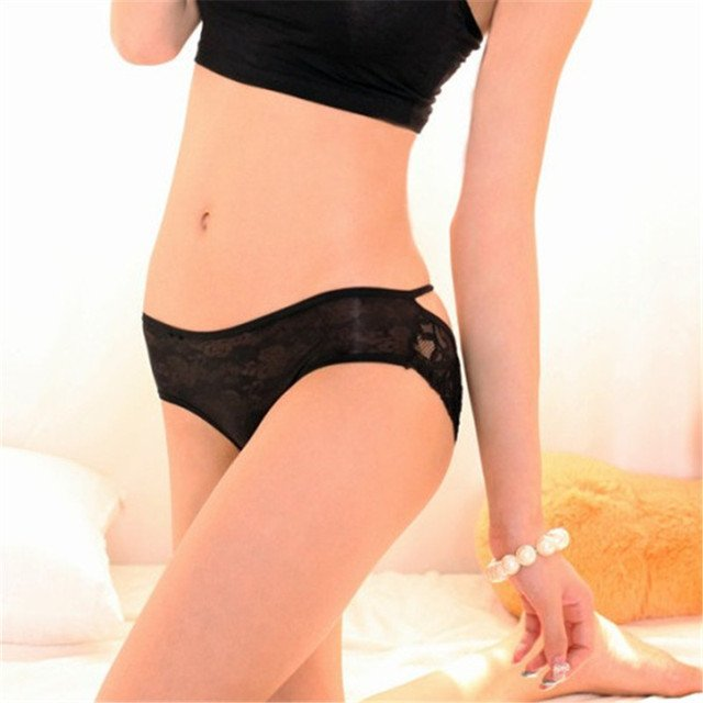 Free Size Fashion Women Sexy Lace Knickers Panties Lingerie Briefs Underwear Thongs Transparent Intimates Briefs Underpants 3248