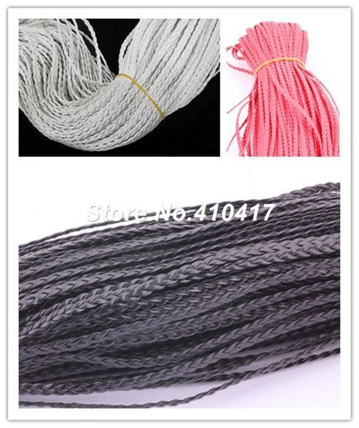 100yards/lot Color Choice Flat Braided Synthetic Leather Jewelry Cord Approx 5mm Width For Jewelry Making Free Shipping