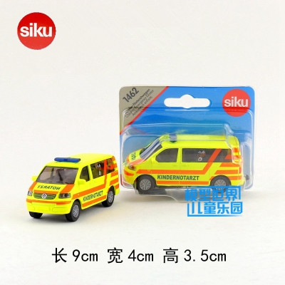 Siku 1462/Diecast Metal Model/Volkswagen Kid Ambulance/Educational German Toy Car for children's gift/Collection/Small