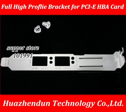 DEBROGLIE Full High Proflie Bracket baffle for  Double port fiber-optic card EMULEX LPE12002-AP 8G PCI-E HBA Card