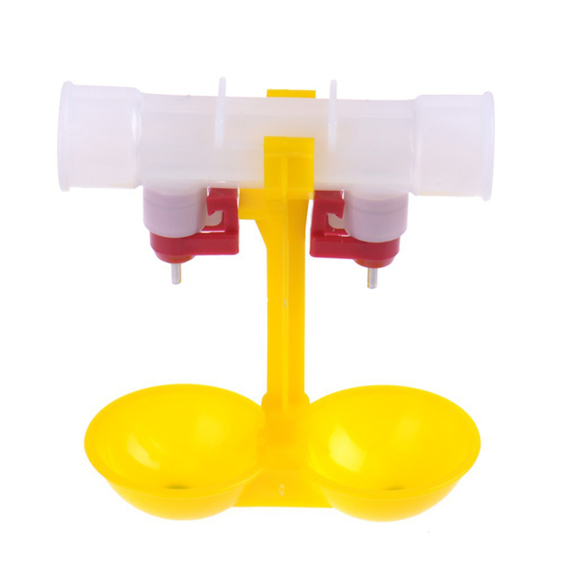 Chicken Drinking Fountain Poultry Drinkers Equipment Convenient Chicken Hanging Cup Broiler Double Nipple Automatic Double